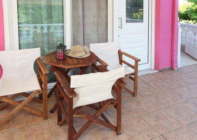 Exterior space of single room studio - Nereids Thassos apartments