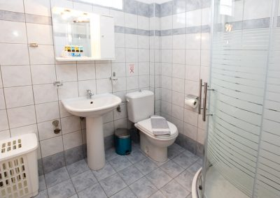 Standard apartment bathroom